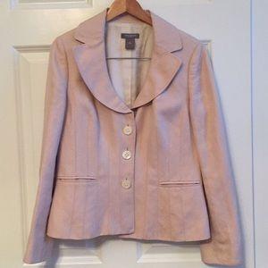 Silk and linen blush pink blazer